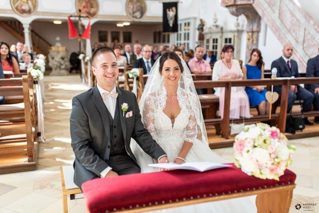 Kirchliche Trauung von Julia und Peter bei Aalen