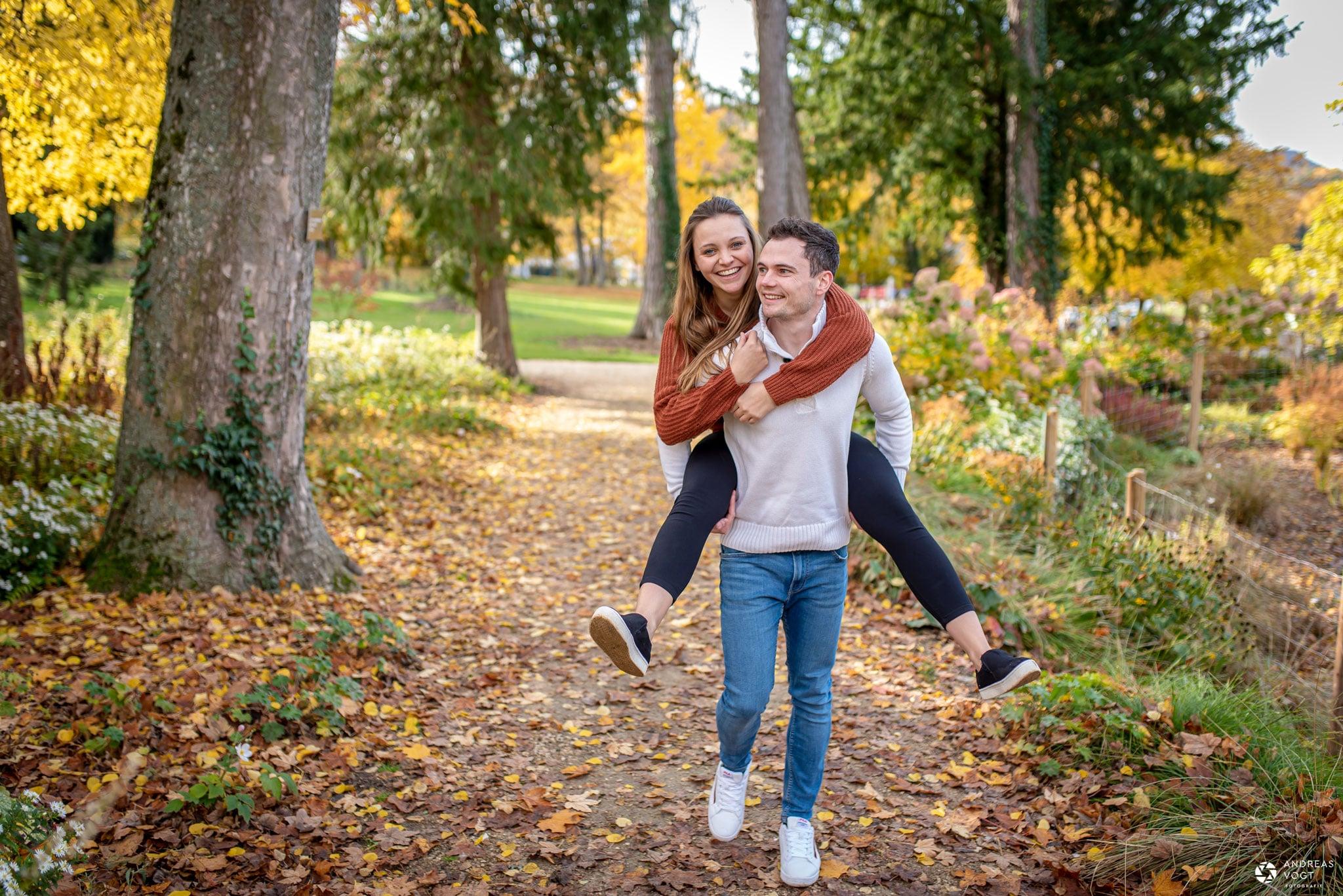 Paarfotoshooting im Herbst Fotograf Andreas Vogt