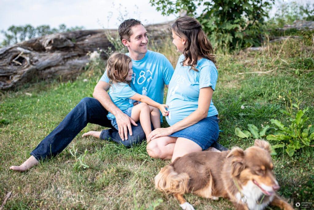 Babybauchfotos mit Sarah und Familie in Schwäbisch Gmünd - Fotograf Andreas Vogt