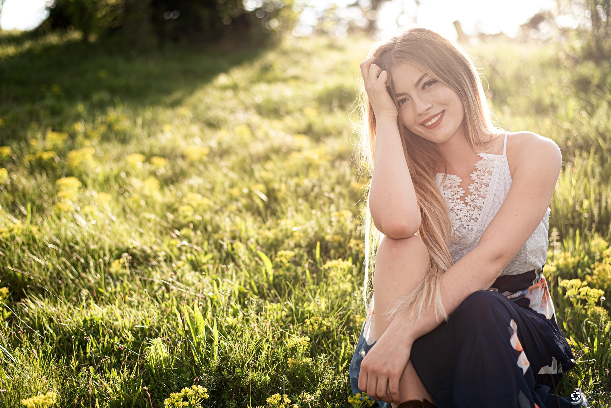 Fotos mit Janine bei Sonnenuntergang - Fotograf Andreas Vogt aus Aalen