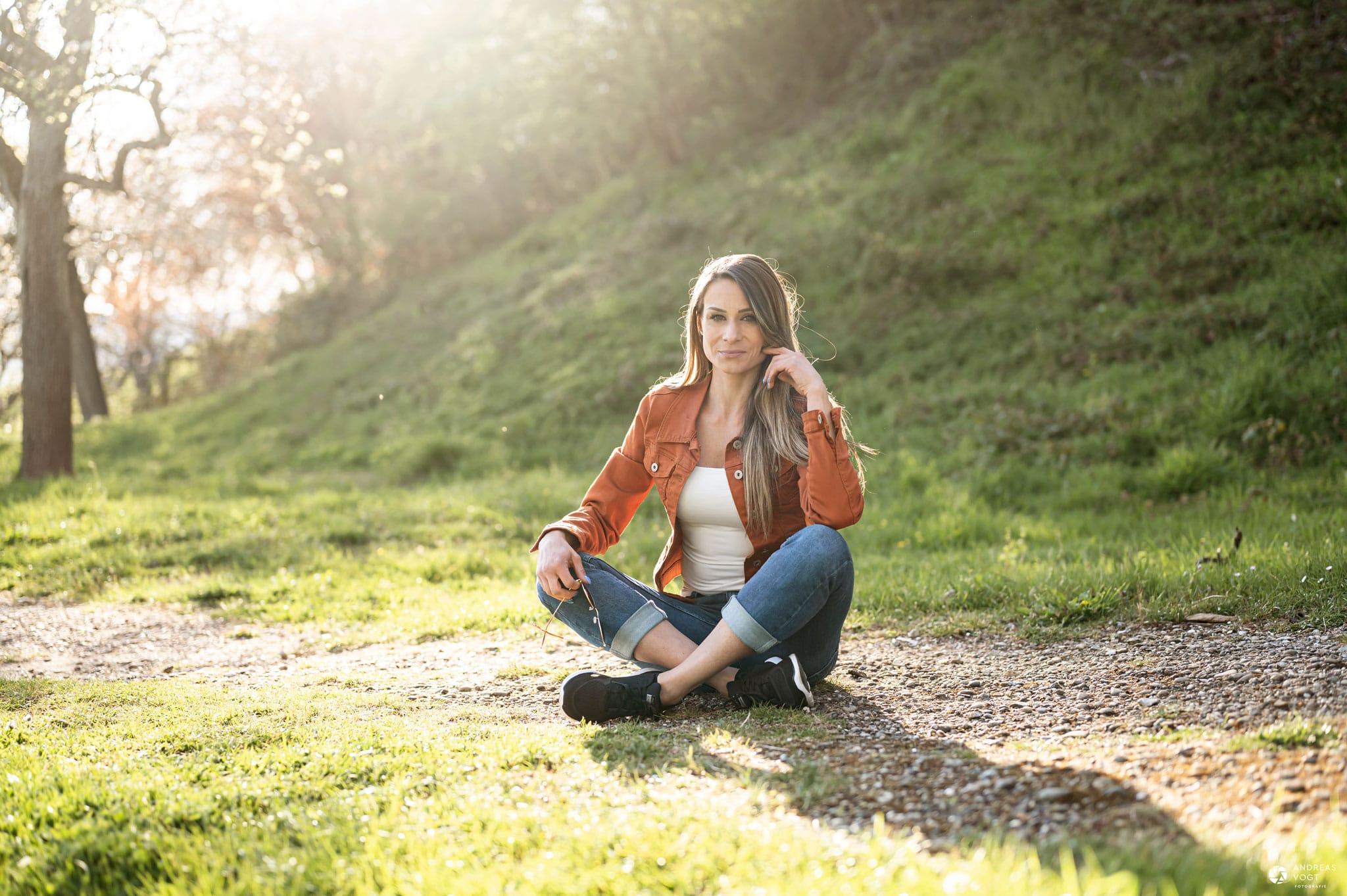Stephanie Fotoshooting bei Sonnenuntergang in Ellwangen - Fotograf Andreas Vogt